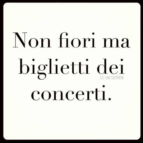 non fiori ma concerti